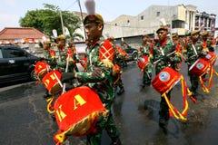 军队游行乐队 图库摄影