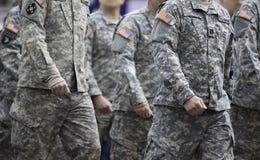 军队游行 免版税库存照片