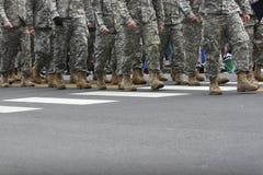 军队游行 免版税图库摄影