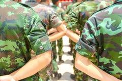 军队游行 免版税库存图片