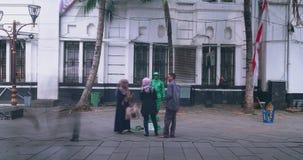 军队生存雕象在雅加达老镇 影视素材