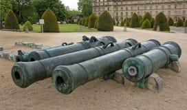 军队的博物馆 交易从mu的汇集的大炮 免版税库存照片