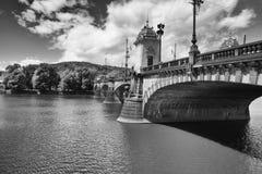 军队著名桥梁在布拉格 免版税库存图片