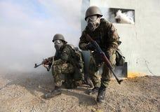 军队训练 免版税库存照片