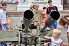 军队设备展示  免版税库存照片