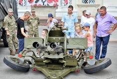 军队设备展示  库存图片