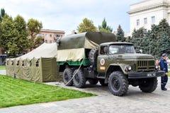 军队设备展示  免版税库存图片