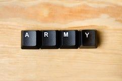军队词 免版税库存图片