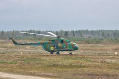 军队运输直升机米尔Mi8 免版税库存图片