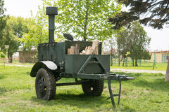 军队野外用的全套炊具KP-125 库存照片