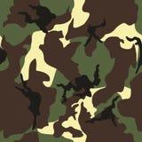 军队,军事伪装无缝的重复的传染媒介基于样式 免版税图库摄影
