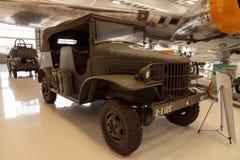 军队绿色1941推托半吨命令和侦察卡车 库存照片