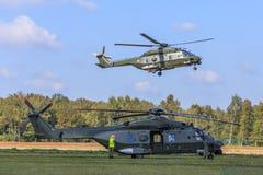 军队NH-90直升机 免版税库存照片