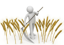 农业刈草机工作者 库存例证