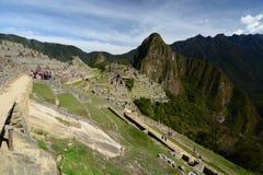 农业区域 Machu Picchu 秘鲁 免版税库存照片
