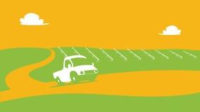 农业和种田风景抽象视图 Agrotourism 帮助 农村的横向 信息图表的设计元素,网 免版税库存图片