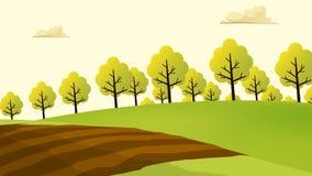 农业和种田风景视图 Agrotourism 帮助 库存图片