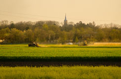 农业在夏天 库存图片