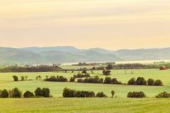 农业地区Oesand,挪威 库存图片