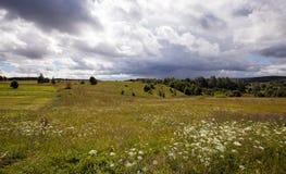 农业域 多暴风雨的天气 库存图片