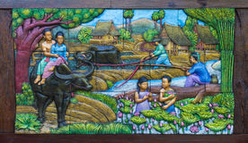 农业壁画泰国 图库摄影