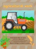农业工作,有机食品海报 图库摄影