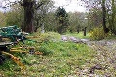 农业工具在秋天 图库摄影
