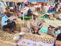 农业市场在安塔那那利佛 马达加斯加 免版税库存图片
