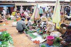 农业市场在安塔那那利佛 马达加斯加 免版税库存照片