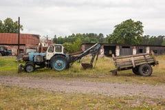 农业废墟从不适当的经济决定的 免版税库存照片