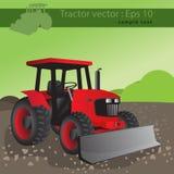农业拖拉机,农场的运输 免版税库存照片
