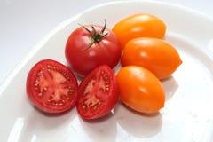 农业新鲜市场产品蔬菜 蕃茄 图库摄影