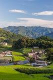 农业村庄在高千穗,宫崎,九州 免版税库存图片