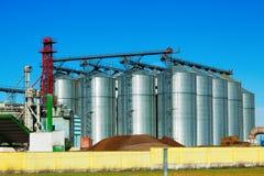 农业的巨大的仓库设施 免版税库存图片