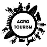 农业的旅游业象 库存照片