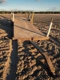 农业的耕犁领域 免版税库存图片