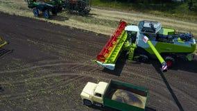 农业的设备在农场 影视素材