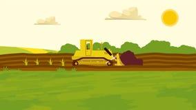 农业种田 Agrotourism 帮助 农村的横向 设计信息图表、网站和打印装置的元素 v 免版税库存图片