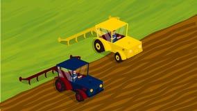 农业种田 Agrotourism 帮助 农村的横向 库存照片