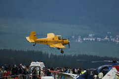 农业航空器airshow demontration 库存图片
