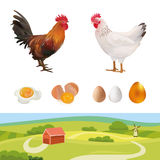农业集合 也corel凹道例证向量 农场 免版税库存照片