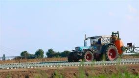农业领域的灌溉的设备 浇灌农业领域的喷洒的机器 农业灌溉 股票录像