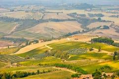 农业风景在托斯卡纳 免版税图库摄影