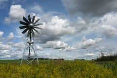 农业风车 库存照片