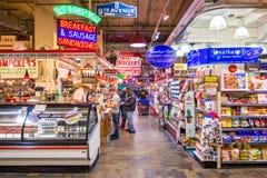 读农产品集散市场 免版税库存照片