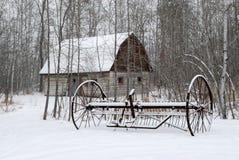 农厂冬天 库存照片