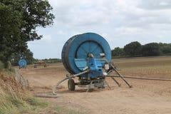 农厂庄稼供水系统 库存照片