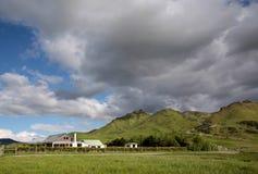 农厂房子在南方,新西兰 库存照片