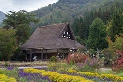 农厂房子在白川町是,日本 图库摄影