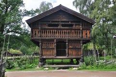 农厂房子挪威挪威老奥斯陆 图库摄影